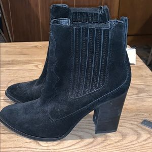 Dolce vita heeled suede booties